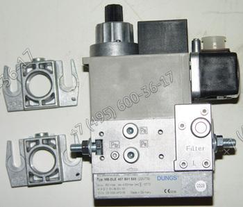 Газовый клапан (мультиблок) Dungs MB-DLE 407 30-200-360 мбар для горелок Lamborghini ЕМ 16 - Е, ЕМ 26 - Е, ЕМ 35