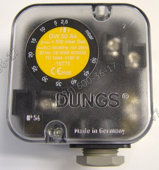 Реле давления газа Dungs GW50 для горелок Lamborghini 55 PM.. - 430 PM..