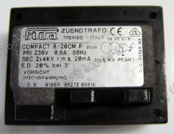 Трансформатор Fida Compact 8/20 CM P для горелок Lamborghini FIRE 1.., FIRE R..